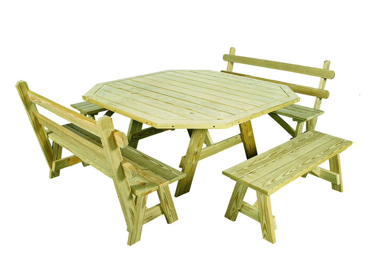 Outdoor furniture - wood picnic table with border