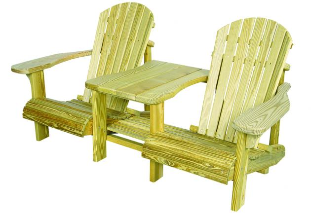 Outdoor wood furniture - adirondack settee