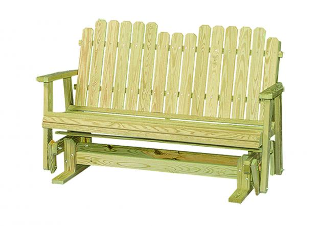 Outdoor wood furniture - picketback glider