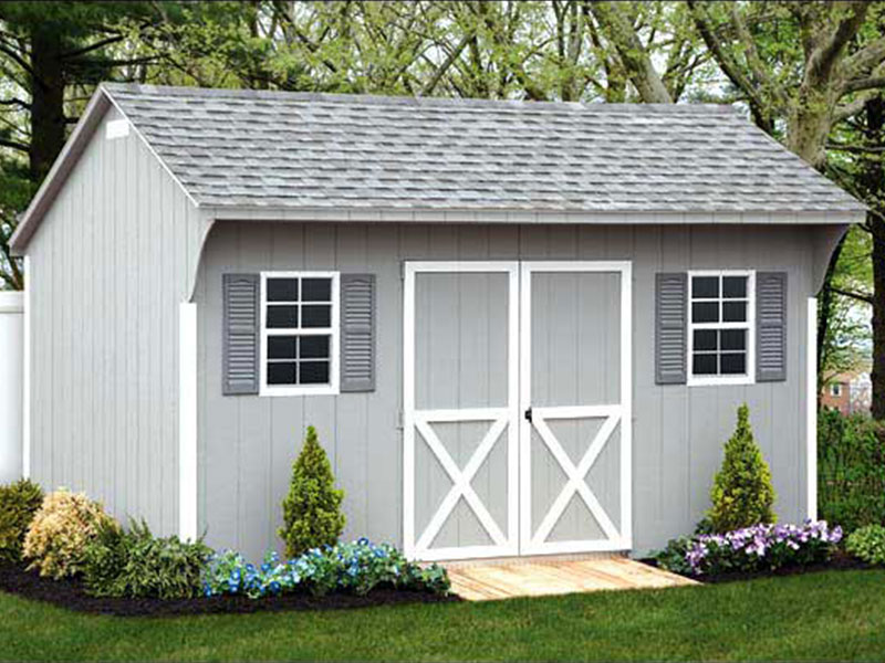 Quaker LP style shed