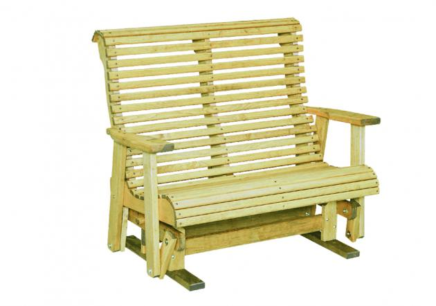 Outdoor wood furniture - rollback glider