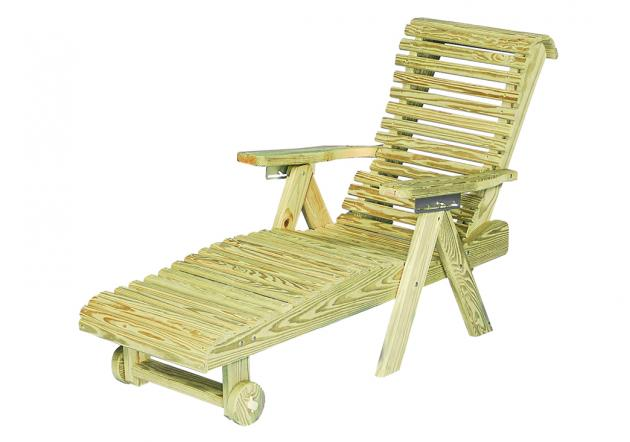 Outdoor wood furniture - rollback lounge