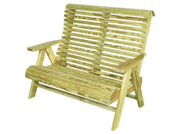 Outdoor wood furniture - rollback loveseat