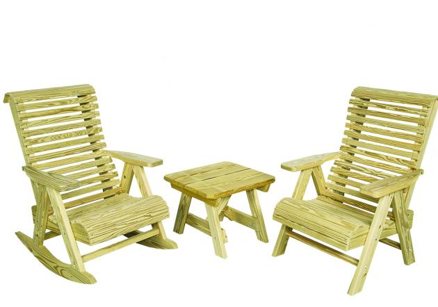 Outdoor wood furniture - rollback set