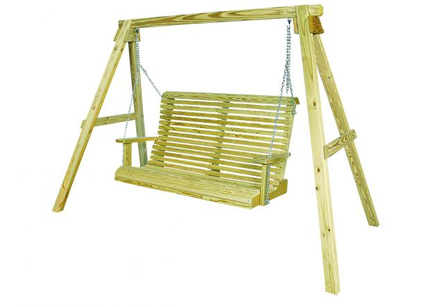 Outdoor wood furniture - rollback swing