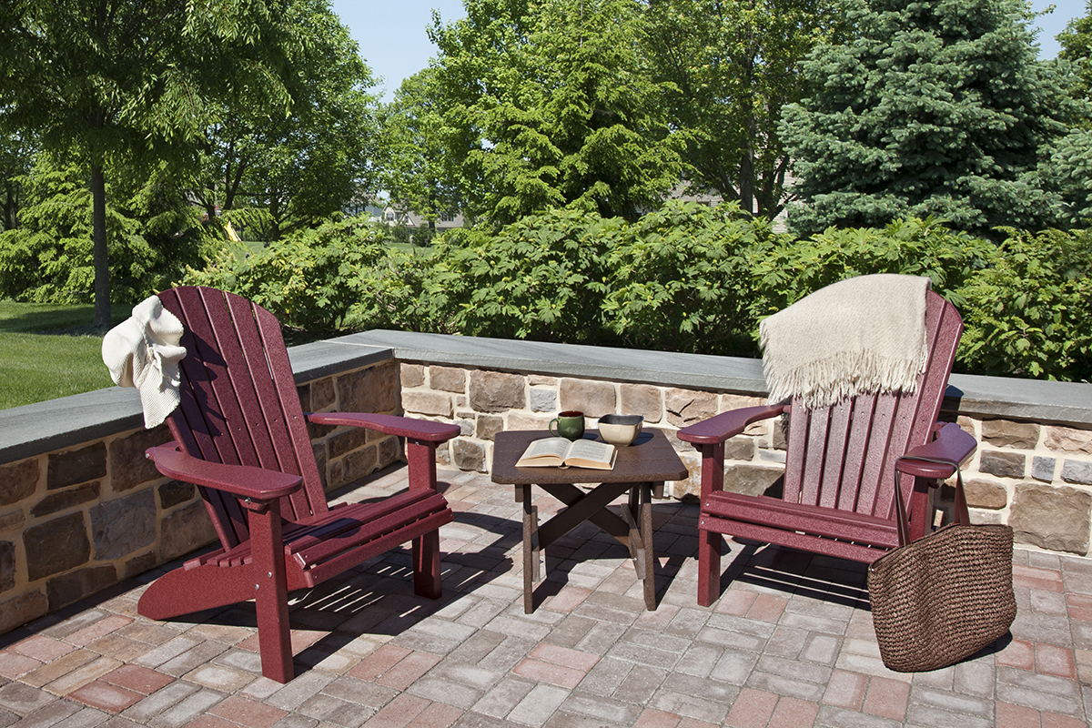 Outdoor furniture - poly fanback lawn chairs