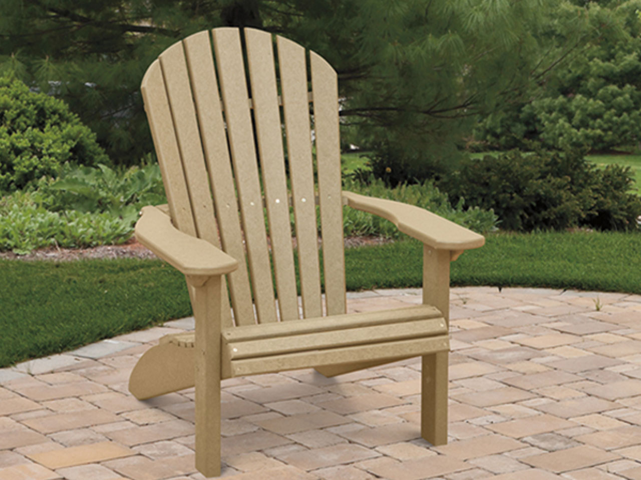 Outdoor furniture - poly fanback chair