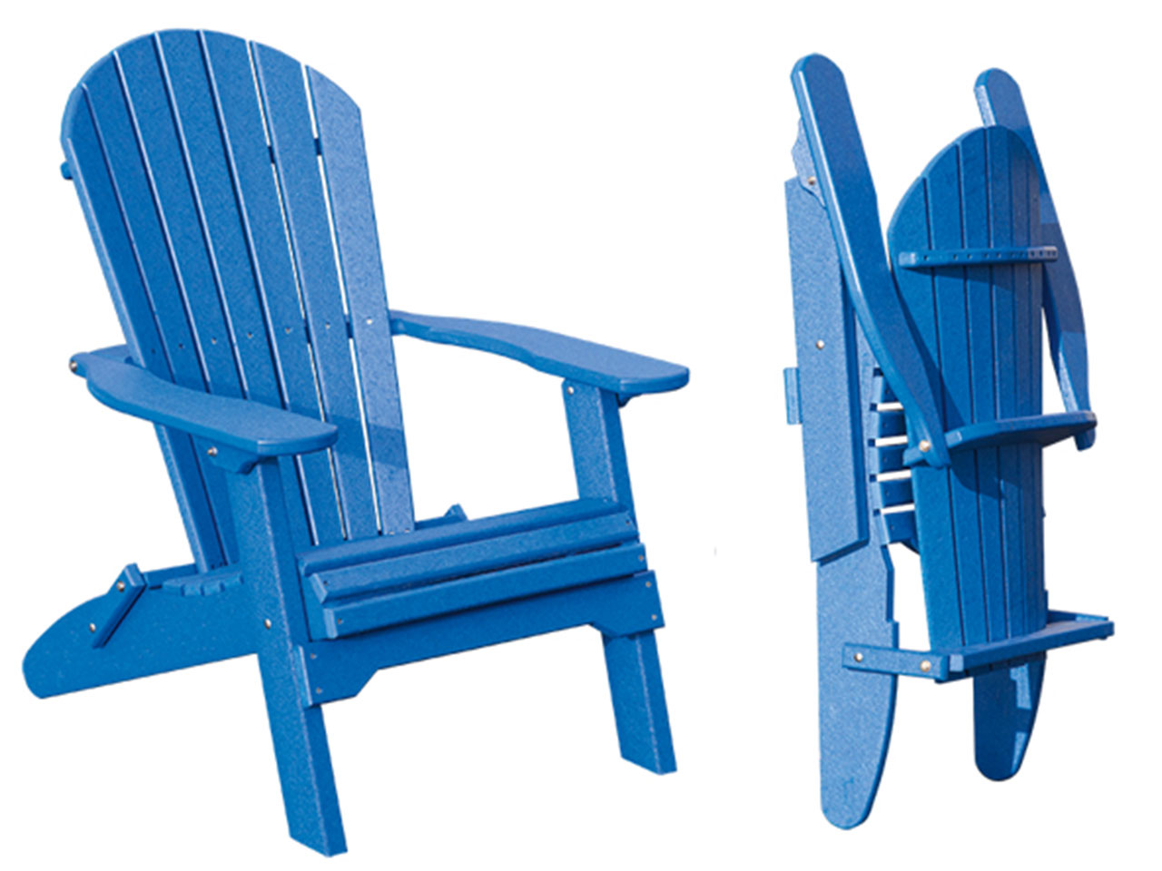 Outdoor furniture - poly folding fanback chair