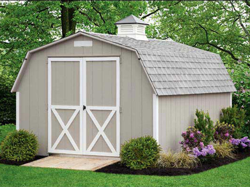 Build shed popular shed style porch for Barn style buildings