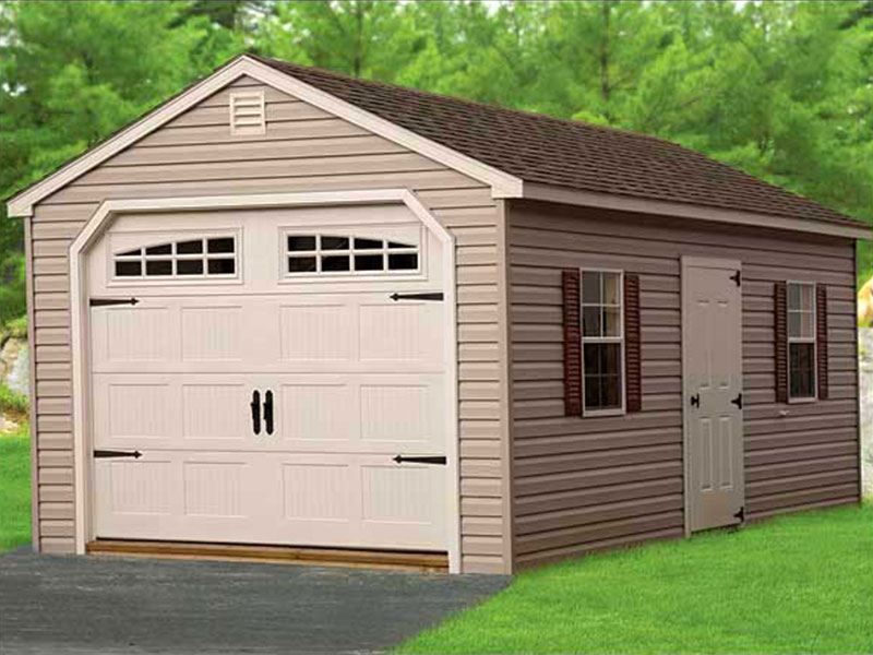 Storage shed and garage