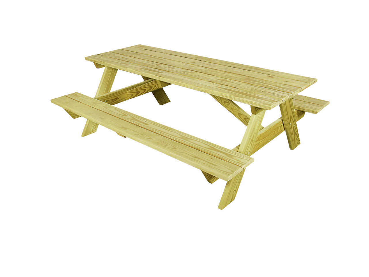 Outdoor furniture - wood picnic table with benches
