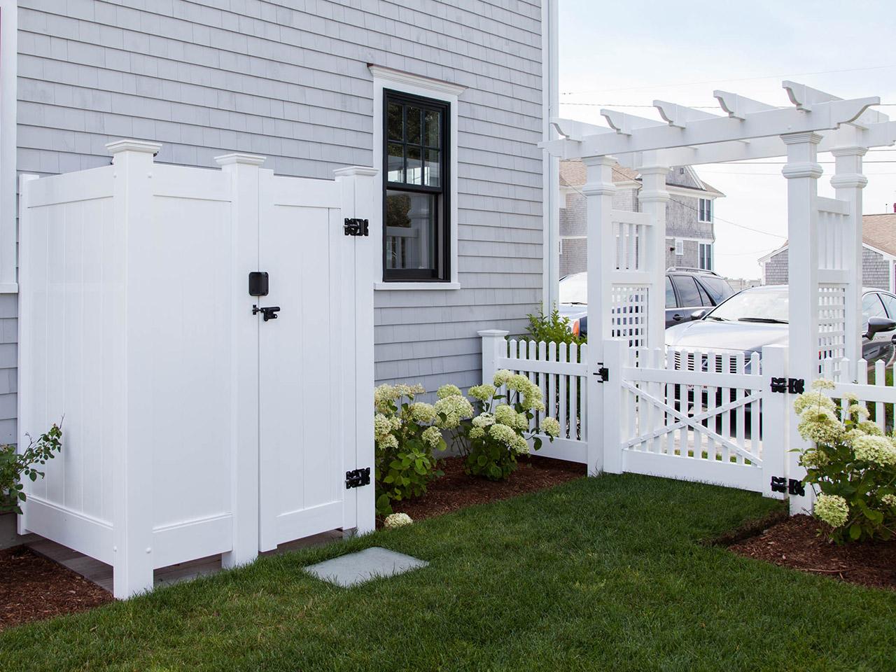 Outside Showers Cape Cod Fence Company