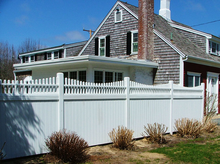 Eastham solid board fence cape cod