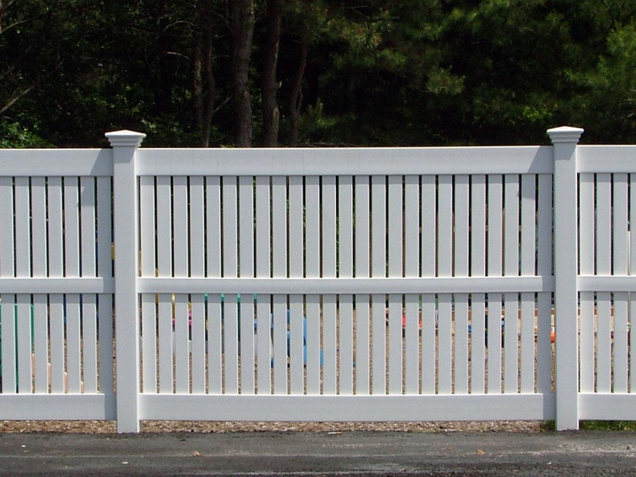 Vinyl semi-private fence cape cod