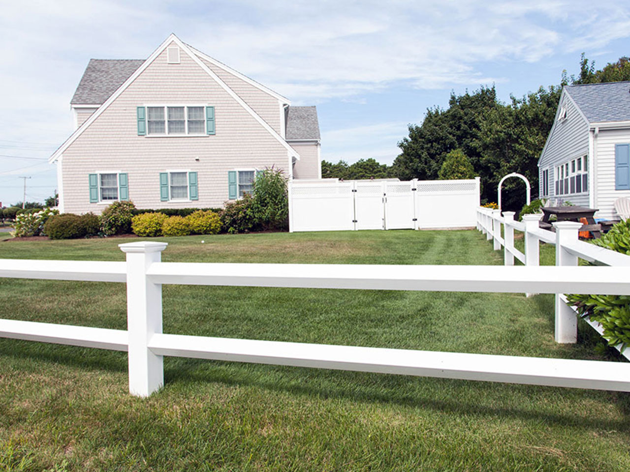 Vinyl post and rail fence cape cod