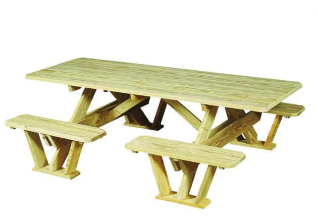 3'x7' Split Bench Picnic Table