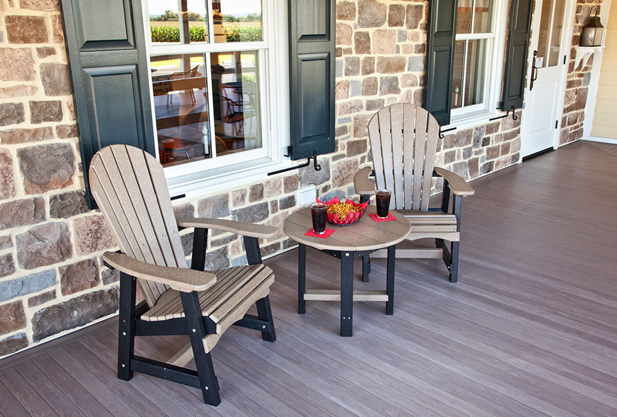 Poly Adirondack porch furniture