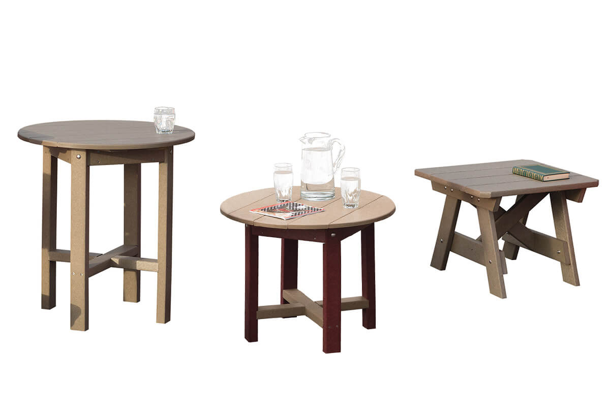 Poly tables: cafe, side, square